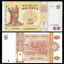 MOLDAVIE - Billet de 1 Leu - 2013