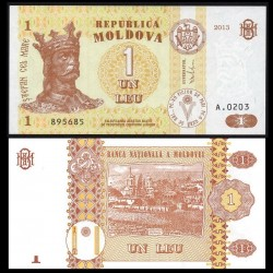 MOLDAVIE - Billet de 1 Leu - 2013