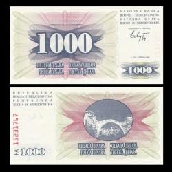 BOSNIE HERZEGOVINE - Billet de 1000 Dinara - Pont de Mostar - 1992