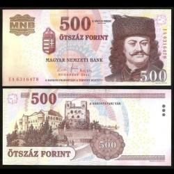 HONGRIE - Billet de 500 Forint - François II Rákóczi - 2011