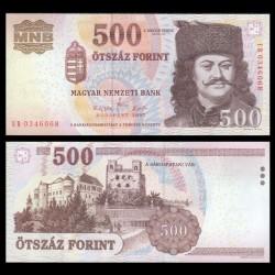 HONGRIE - Billet de 500 Forint - François II Rákóczi - 2007