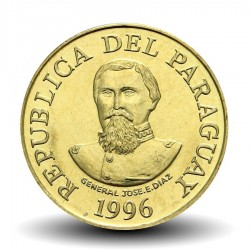 PARAGUAY - PIECE de 100 Guaranies - Général José E. Diaz - Fao - 1996