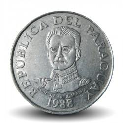 PARAGUAY - PIECE de 50 Guaranies - maréchal José Félix Estigarribia - 1988 Km#169