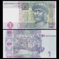 UKRAINE - Billet de 1 Hrivnya - Prince St. Vladimir - 2004 P116a