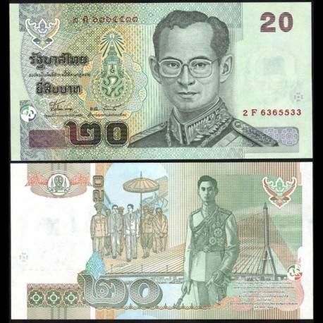 THAILANDE - Billet de 20 Baht - 2003 P109e