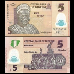 NIGERIA - Billet de 5 Naira - Polymer - 2018