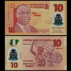 NIGERIA - Billet de 10 Naira - Polymer - 2018
