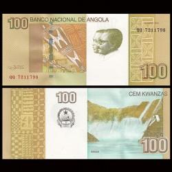 ANGOLA - Billet de 100 Kwanzas - Cascades de Binga - 2012