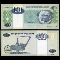ANGOLA - Billet de 50 Kwanzas - Plate-forme pétrolière - 2010
