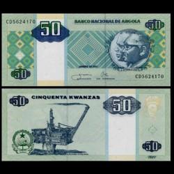 ANGOLA - Billet de 50 Kwanzas - Plate-forme pétrolière - 2011