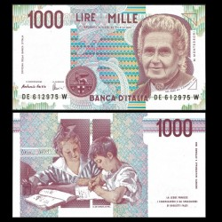 ITALIE - Billet de 1000 Lire - Maria Montessori - 1990
