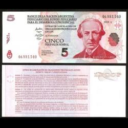 ARGENTINE - Banco de la Nación Argentina - Billet de 5 Pesos - 2006