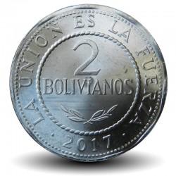 BOLIVIE - PIECE de 2 Bolivianos - 2017