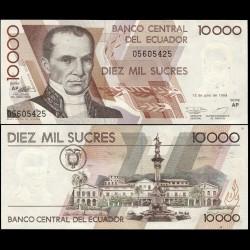 EQUATEUR - Billet de 10000 Sucres - Vicente Rocafuerte - 1999 P127e.2