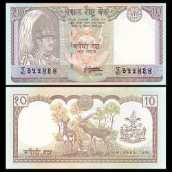 NEPAL - Billet de 10 Roupies - Antilopes - 1995 / 2000