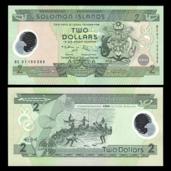 SALOMON (ILES) - Billet de 2 DOLLARS - POLYMER - 2001