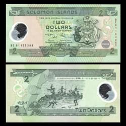 SALOMON (ILES) - Billet de 2 DOLLARS - POLYMER - 2001