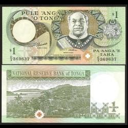 TONGA - Billet de 1 Pa'anga - Roi George Taufa'ahau IV Tupou - 1995 P31c