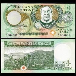 TONGA - Billet de 1 Pa'anga - Roi George Taufa'ahau IV Tupou - 1995