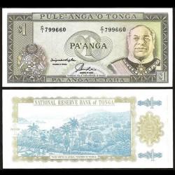 TONGA - Billet de 1 Pa'anga - Roi George Taufa'ahau IV Tupou - 1992