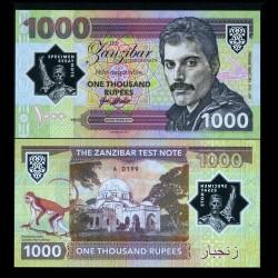 ZANZIBAR - Billet de 1000 Rupees - Freddie Mercury - Polymer - 2019