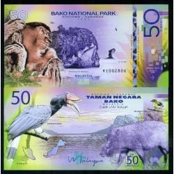 NATIONAL PARK / PARC NATIONAUX - Parc national de BAKO - Billet de 50 Ringgit - Singe Proboscis - 2019