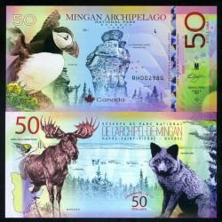 NATIONAL PARK / PARC NATIONAUX - Parc national de l'Archipel-de-Mingan - Billet de 50 Dollars - Macareux - 2019