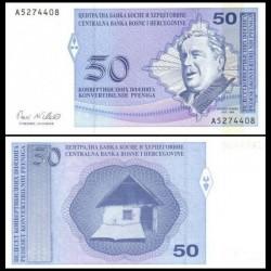 BOSNIE HERZEGOVINE - Billet de 50 Pfeniga- Branko Ćopić - 1998