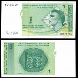 BOSNIE HERZEGOVINE - Billet de 1 Marka - Ivan Franjo Jukić - 1998