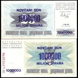 BOSNIE HERZEGOVINE - Billet de 1000000 Dinara - Armoiries - 01.09.1993