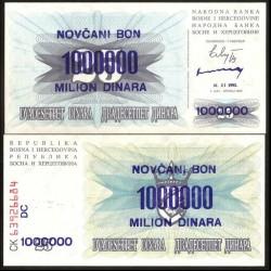 BOSNIE HERZEGOVINE - Billet de 1000000 Dinara - Armoiries - 01.11.1993