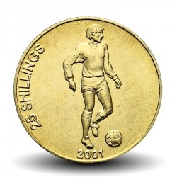 SOMALIE - PIECE de 25 shillings - Joueur de football - 2001