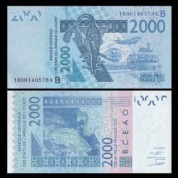 BCEAO - BENIN - Billet de 2000 Francs - Mérou - 2018