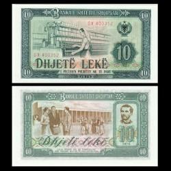 ALBANIE - Billet de 10 Leke - Tissage du coton - 1976