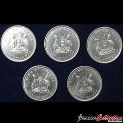 OUGANDA - SET / LOT de 5 PIECES de 100 Shillings - Série SINGES - 2004