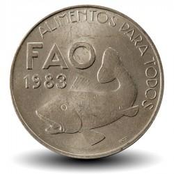 PORTUGAL - PIECE de 25 Escudos - Fao - MORUE - 1983