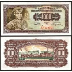 YOUGOSLAVIE - Billet de 1000 Dinara - 01.05.1955 P71b