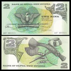 PAPOUASIE NOUVELLE GUINEE - Billet de 2 Kina - Oiseau de paradis - 1981