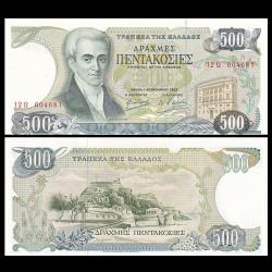 GRECE - Billet de 500 Drachme - Ioannis Kapodistrias - 1983 P201a