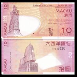 MACAO - Billet de 10 Patacas - Statue A-ma Goddess - 11.11.2013