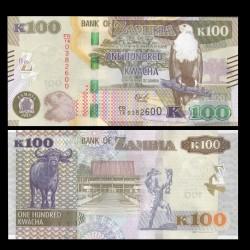 ZAMBIE - Billet de 100 Kwacha - 2018
