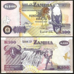 ZAMBIE - Billet de 100 Kwacha - 1992