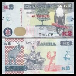 ZAMBIE - Billet de 2 Kwacha - Antilope rouanne - 2018