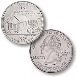 ETATS-UNIS / USA - PIECE de 25 Cents (Quarter States) - Iowa - 2004
