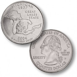 ETATS UNIS / USA - PIECE de 25 Cents (Quarter States) - Michigan - 2004 - P