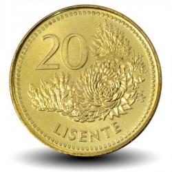 LESOTHO - PIECE de 20 Lisente - Plantes- 1998