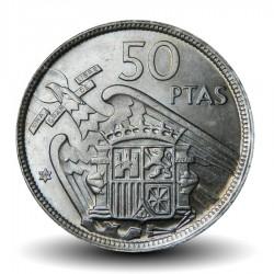 ESPAGNE - PIECE de 50 Pesetas - Francisco Franco - 1957 Km#788