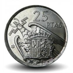ESPAGNE - PIECE de 25 Pesetas - Francisco Franco - 1957 Km#787