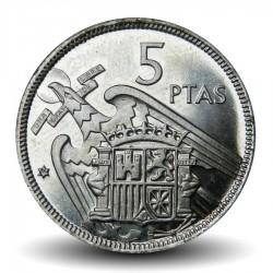 ESPAGNE - PIECE de 5 Pesetas - Francisco Franco - 1957 Km#786