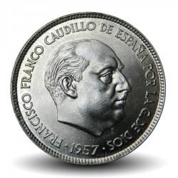 ESPAGNE - PIECE de 5 Pesetas - Francisco Franco - 1957